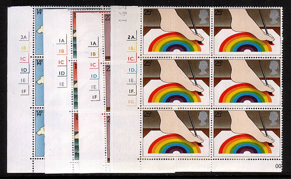 view larger image for SG 1147-1150 (1981) - International Year of the Disabled <br/>Set of four in superb unmounted mint cylinder blocks of six