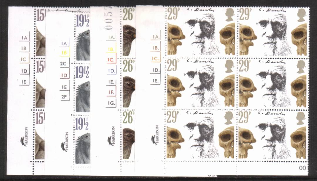 view larger image for SG 1175-1178 (1982) - Charles Darwin<br/>