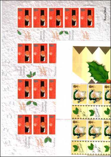 view larger image for SG LS2 - SG LS3 (2000) - LS2 + LS3 Christmas pair of sheets inscribed along the edge POST OFFICE 2000 superb unmounted mint. A scarce pair of sheets.