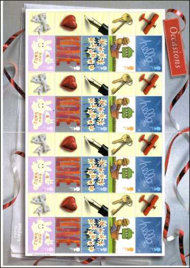 view larger image for SG LS7 (2002) - 'Occasions' stamps