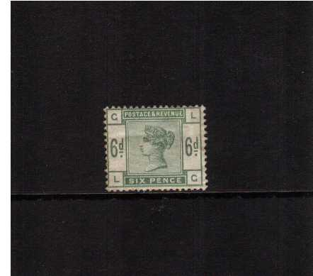 view larger image for SG 194 (1884) - 6d Green lettered 'L-G' in a deep green shade with a minor gum crease. SG Cat �450