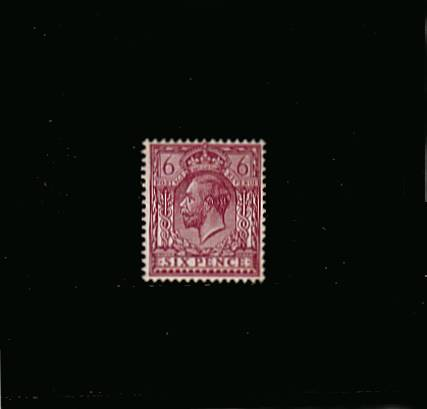 view larger image for SG 426 (1924) - 6d Reddish Purple - Chalk surfaced paper<br/>Superb very lightly mounted mint single<br/><b>XZX</b>