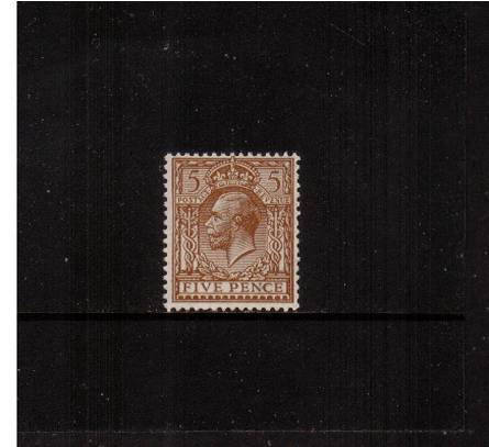 view larger image for SG 425 (1924) - 5d Brown<br/>