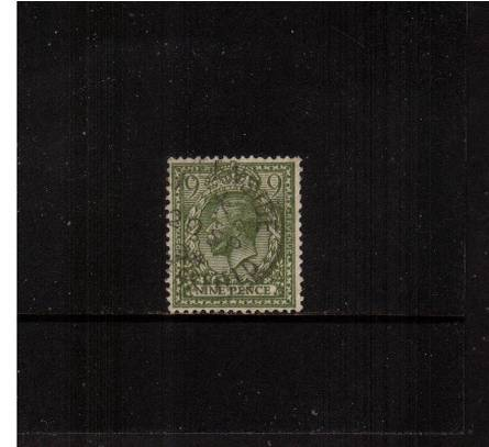view larger image for SG 427 (1924) - 9d Olive-Green<br/>