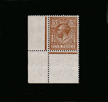 view larger image for SG 382 (1912) - 5d Yellow-Brown<br/>