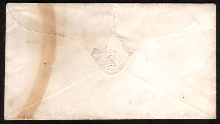 view larger back view of image for 1 Red ''Stars'' - Large Crown - Perf 16 - lettered ''I-H-'' on a small, neat envelope cancelled with an ABINGDON ''sideways duplex'' cancel dated MR 10 53  SG 26 Cat on cover �240<br/><b>XZX</b>