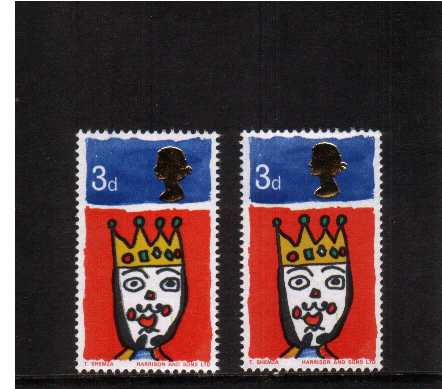 view larger image for SG 713var (1966) - Christmas the 3d stamp showing a shift of the Queen's Head to left superb unmounted mint