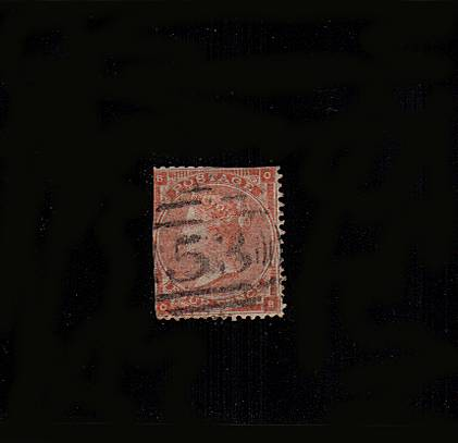 view larger image for SG 79 (1862) - 4d Bright Red from Plate 3 (no hairlines) lettered ''O-B''