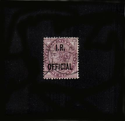 view larger image for SG O3 (1897) - <b>I. R. OFFICIAL</b><br/>