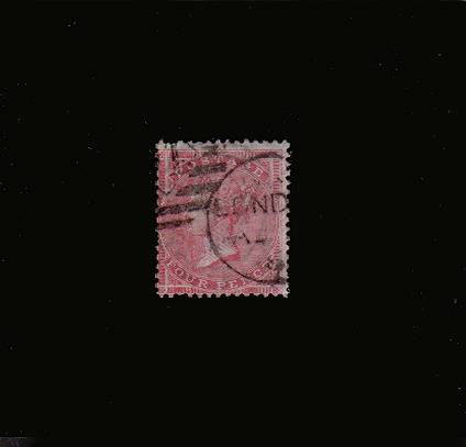 view larger image for SG 66 (1857) - 4d Rose-Carmine watermark LARGE GARTER<br/>A good used stamp with a couple of short perfs.<br/>SG Cat �150
