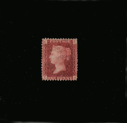 view larger image for SG 43 (1864) - 1d Rose-Red from Plate 95 lettered ''E-K''