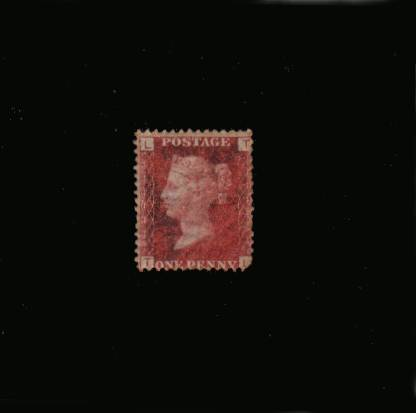 view larger image for SG 43 (1864) - 1d Rose-Red from Plate 113 lettered ''T-L''