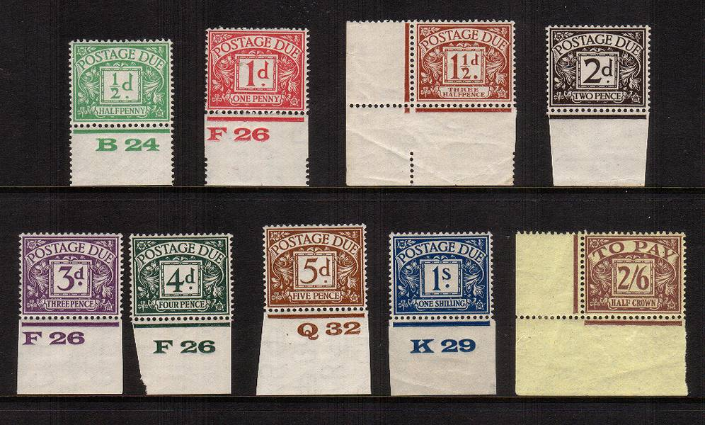 view more details for stamp with SG number SG D10-D18