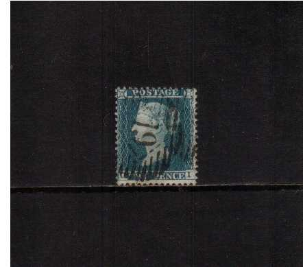view larger image for SG 34 (1855) - 2d Blue from Plate 5 - Large Crown - Perf 14.<br/> A good stamp lettered 'O-I' cancelled with a LONDON '19'