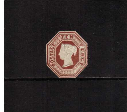 view larger image for SG 57 (1848) - 10d Brown. An unused stamp but cut round. SG Cat for pefect stamp �6000.00