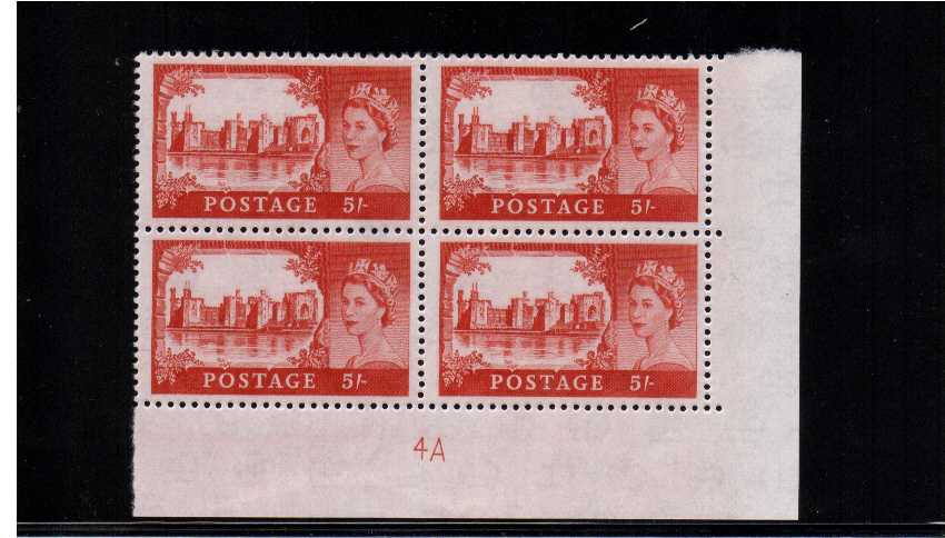 view larger image for SG 596a (1963) - 5/- Red<br/>