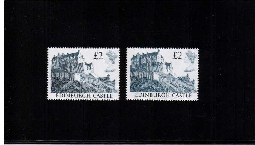 view larger image for SG 1412var (1988) - �2 Indigo. Two superb unmounted mint examples showing two very different shades