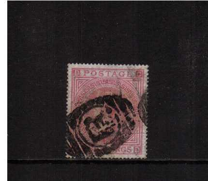 view larger image for SG 126 (1874) - 5/- Rose from Plate 2 lettered 'C-D' A good sound used stamp with a horizontal paper flaw at right. SG Cat �00