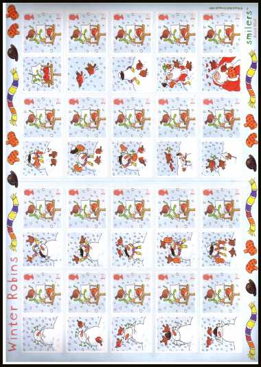 view larger image for SG LS14 (2003) - Christmas 2003 - 'Winter Robins'
