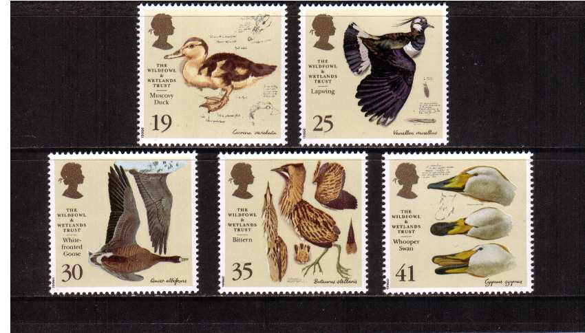 view larger image for SG 1915-1919 (1996) - Wildfowl and Wetlands Trust<br/>set of five