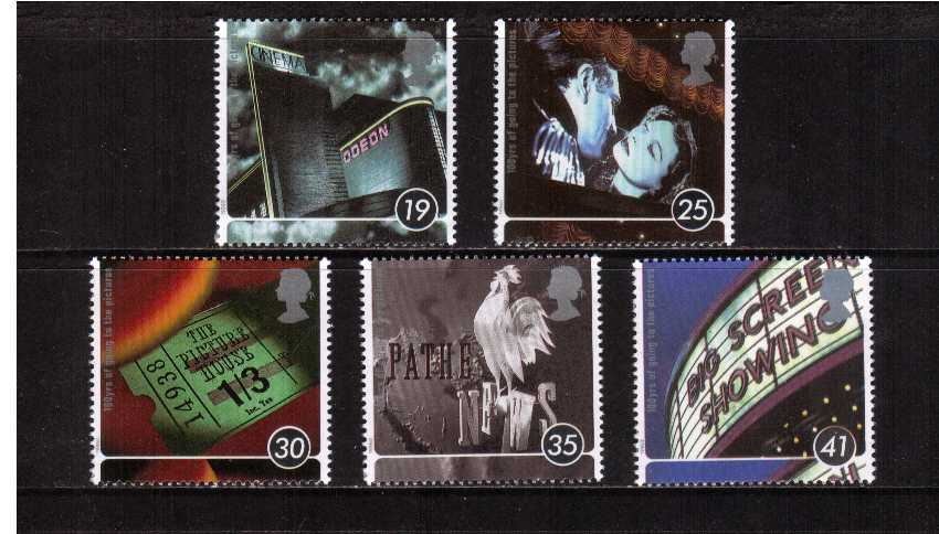view larger image for SG 1920-1924 (1996) - Centenary of the Cinema<br/>set of five