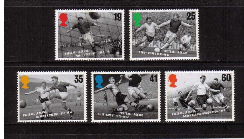 view larger image for SG 1925-1829 (1996) - European Football Championships<br/>set of five