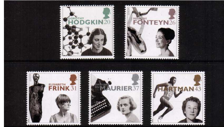 view larger image for SG 1935-1939 (1996) - EUROPA - Famous Women<br/>set of five