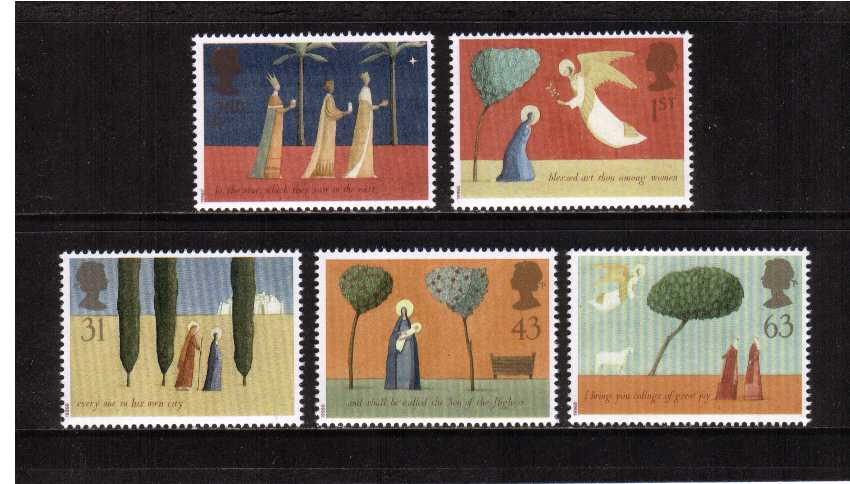 view larger image for SG 1950-1954 (1996) - Christmas<br/>set of five
