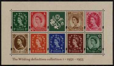 view larger image for SG MS2326 (5 Dec 2002) - 50th Anniversary of The Wilding Definitives - 1st Issue<br/>minisheet