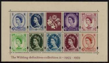 view larger image for SG MS2367 (20 May 2003) - 50th Anniversary of The Wilding Definitives - 2nd Issue<br/>minisheet