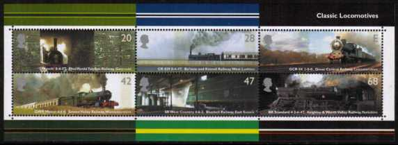 view larger image for SG MS2423 (13 Jan 2004) - Classic Trains minisheet