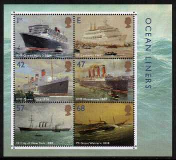 view larger image for SG MS2454 (13 April 2004) - Ocean Liners minisheet