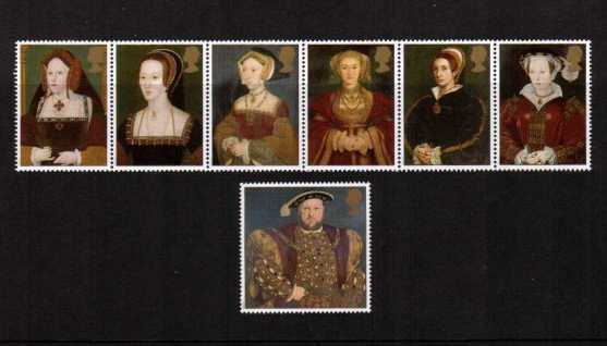 view larger image for SG 1965-1971 (1997) - The Great Tudor Henry VIII<br/>set of seven