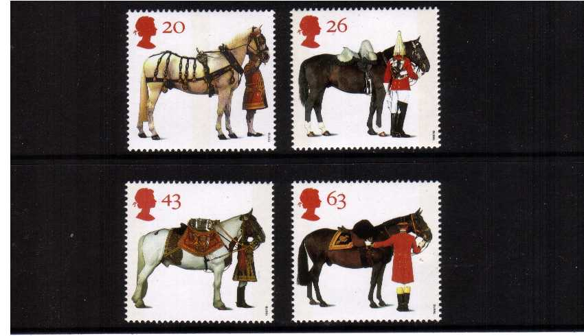 view larger image for SG 1989-1992 (1997) - 'All the Queen's Horses'<br/>set of four