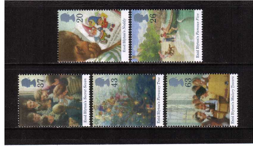 view larger image for SG 2001-2005 (1997) - Enid Blyton children's author<br/>set of five