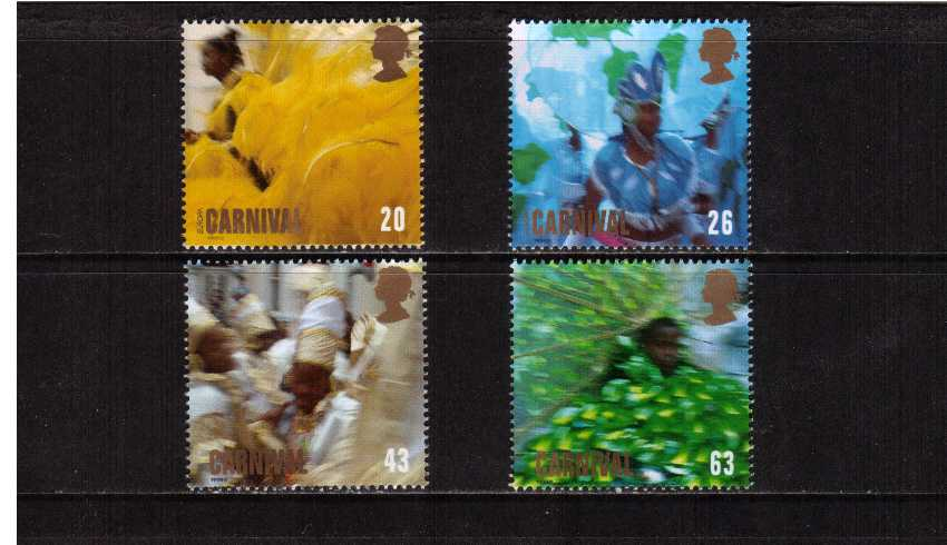 view larger image for SG 2055-2058 (1998) - EUROPA - Notting Hill Carnival<br/>set of four