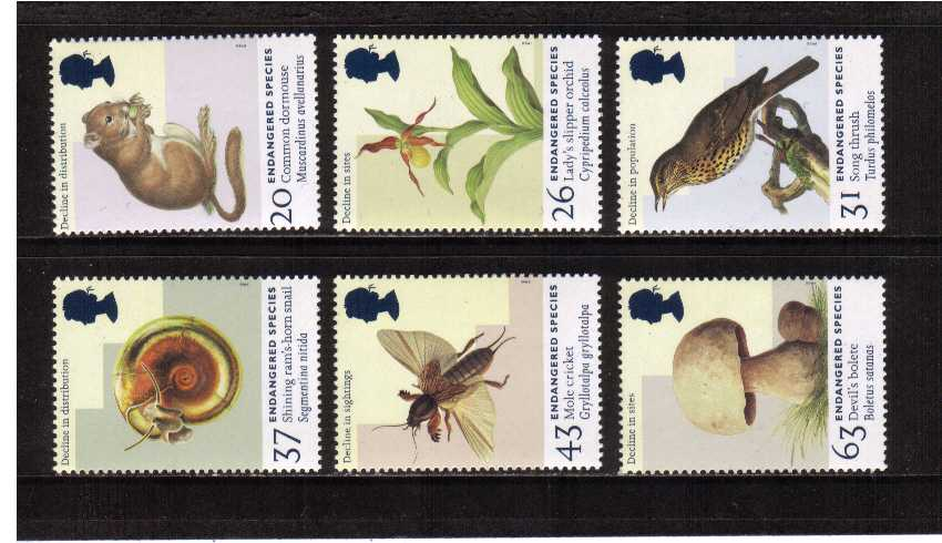 view larger image for SG 2015-2020 (1998) - Endangered Species<br/>set of six