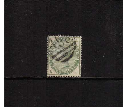 view larger image for SG 192 (1884) - 4d Green lettered 'L-L' A good fine used stamp with great colour. SG Cat �185