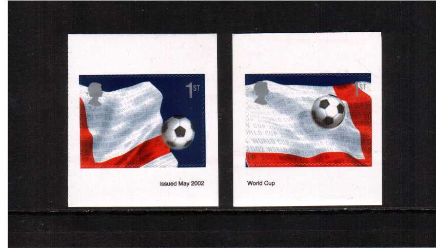 view larger image for SG 2293-2294 (2002) - World Cup Football Championships set of two self adhesive singles ex booklet SG PM6
