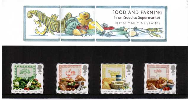 Stamp Image: view larger back view image for Food and Farming Year<br/><br/>