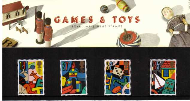 Stamp Image: view larger back view image for EUROPA - Toys and Games<br/><br/>
