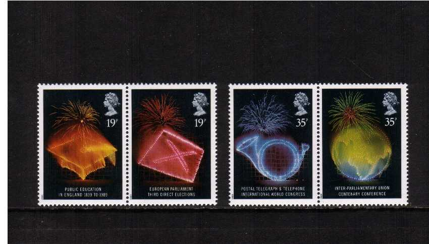 view larger image for SG 1432-1435 (1989) - Anniversaries set of four
