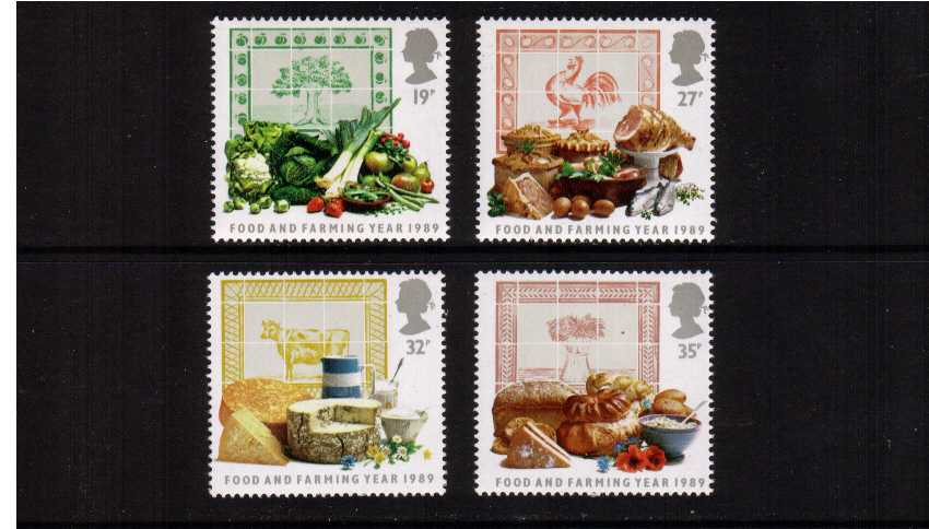 view larger image for SG 1428-1431 (1989) - Food and Farming Year set of four