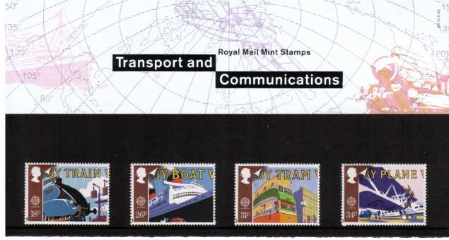 Stamp Image: view larger back view image for EUROPA - Transport and Mail Services<br/><br/>