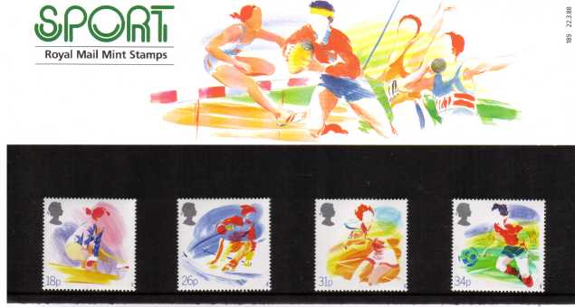 Stamp Image: view larger back view image for Sports Organizations<br/><br/>