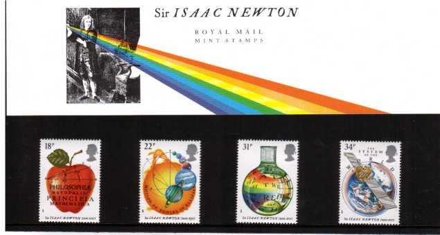 Stamp Image: view larger back view image for Sir Isaac Newton<br/><br/>