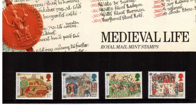 Stamp Image: view larger back view image for Medieval Life<br/><br/>