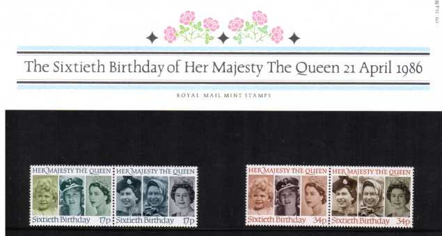 Stamp Image: view larger back view image for Sixtieth Birthday of Her Majesty The Queen<br/><br/>