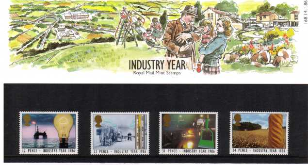 Stamp Image: view larger back view image for Industry Year<br/><br/>