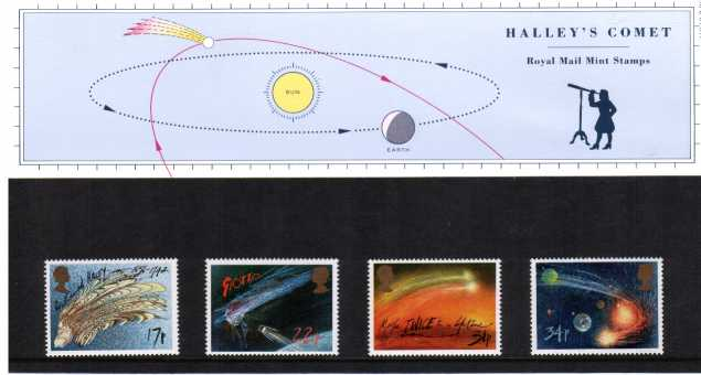 Stamp Image: view larger back view image for Halley's Comet<br/>